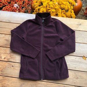 Woolrich Purple Fleece Jacket Sz M